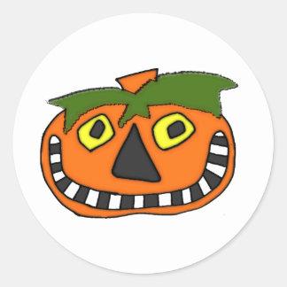 Pumpkin Head Trick or Treat Stickers
