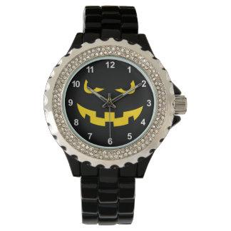 Pumpkin head wrist watch