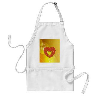 pumpkin heart smile love adult apron