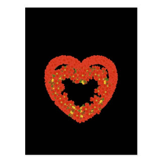 pumpkin heart smile love postcard