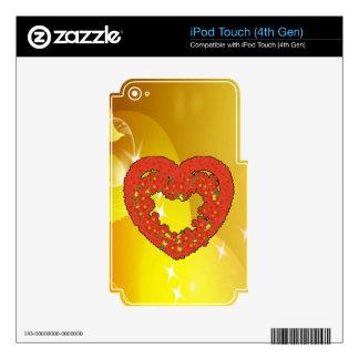 pumpkin heart smile love skin for iPod touch 4G