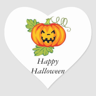 Pumpkin Heart Sticker