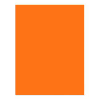 Pumpkin hex code FF7518 Postcard