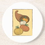 Pumpkin Horn Beverage Coasters