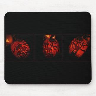 Pumpkin House Aglow Mouse Pad