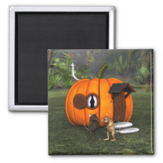 Pumpkin House Mouse Magnet