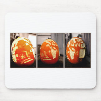 Pumpkin House Mouse Pad