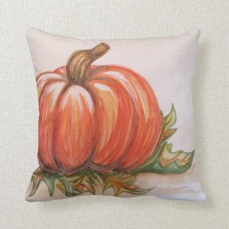 Pumpkin in the Sun Throw Pillows