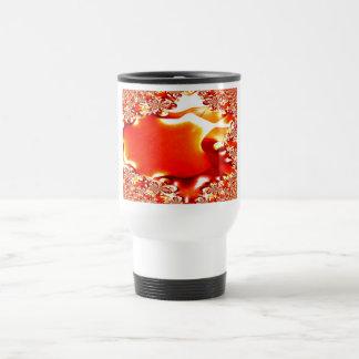 Pumpkin In Water Lillies Fractal Travel Mug