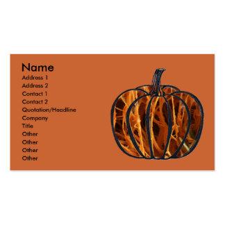 Pumpkin Inside Business Card