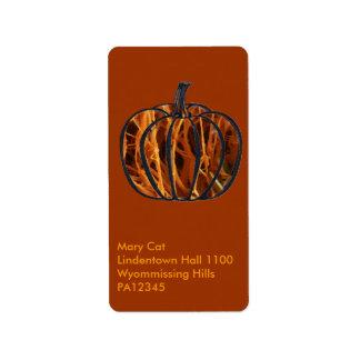 Pumpkin Inside Label