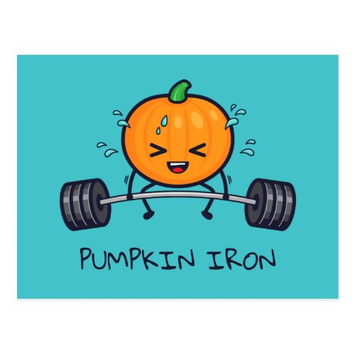 Pumpkin Iron Pun Postcard
