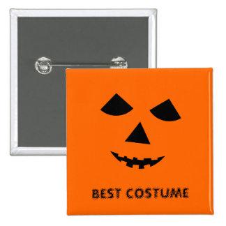 Pumpkin Jack o Lantern Best Halloween Costume 2 Inch Square Button