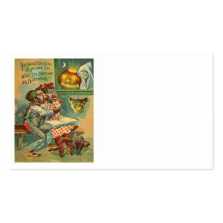 Pumpkin Jack O Lantern Black Cat Ghost Business Card