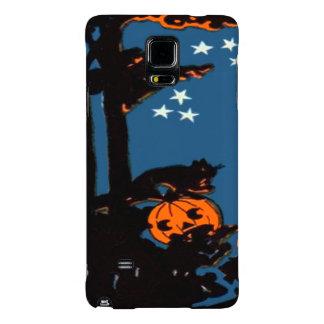 Pumpkin Jack O' Lantern Cat Orange Black Galaxy Note 4 Case