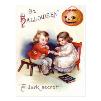 Pumpkin Jack O Lantern Children Postcard