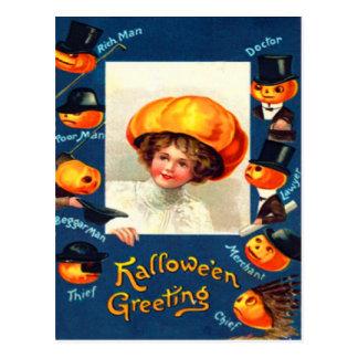 Pumpkin Jack O Lantern Costume Postcard