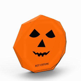 Pumpkin Jack o Lantern Custom Halloween Costume Acrylic Award