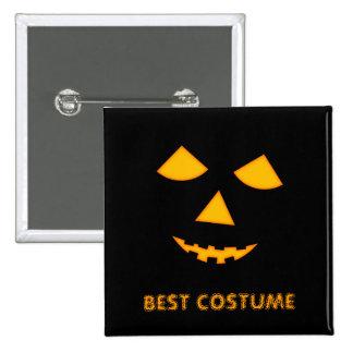 Pumpkin Jack o Lantern Custom Halloween Costume 2 Inch Square Button