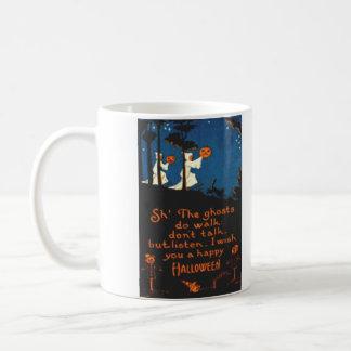 Pumpkin Jack O Lantern Ghost Black Cat Coffee Mug