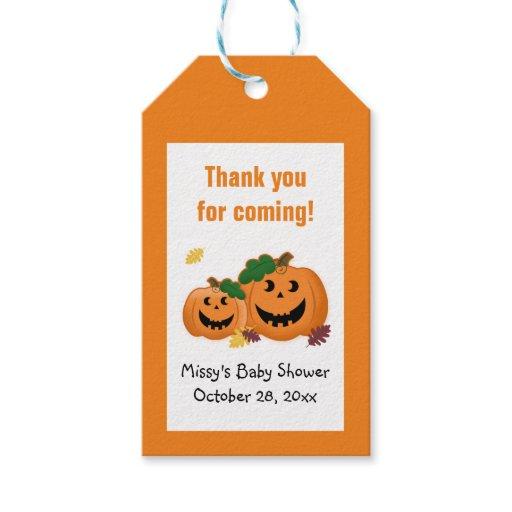 Pumpkin Jack O Lantern Gift Tags