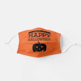 Pumpkin Jack O Lantern Halloween Cloth Face Mask