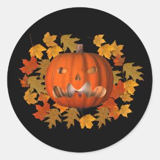 Pumpkin Jack O Lantern Halloween Funny Sticker