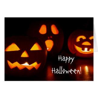 Pumpkin Jack O' Lantern Halloween Greeting Card