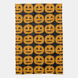 Pumpkin Jack O Lantern Halloween Kitchen Towel