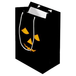 Pumpkin Jack o Lantern Halloween Trick Or Treat Medium Gift Bag