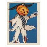 Pumpkin Jack O Lantern Scarecrow Crow Card