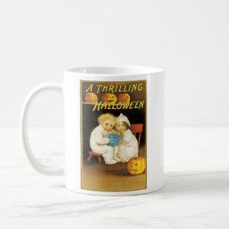 Pumpkin Jack O Lantern Scared Children Coffee Mug