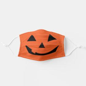 Pumpkin Jack O'Lantern Halloween Cloth Face Mask