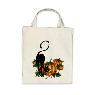 PUMPKIN JACKS, CAT 3 by SHARON SHARPE Tote Bag