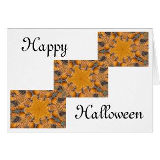 Pumpkin Kaleidoscope Greeting Cards