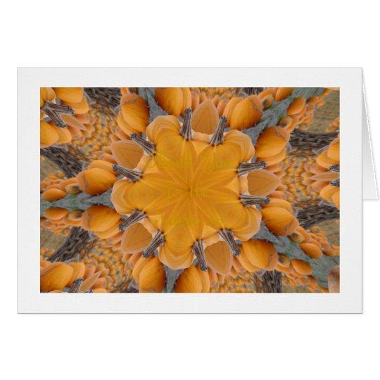 Pumpkin Kaleidoscope Card