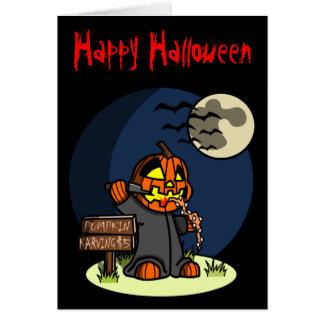 Pumpkin Karving Greeting Card