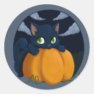 Pumpkin keeper classic round sticker