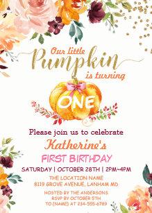 fall birthday invitations zazzle