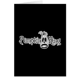 Pumpkin King B&W Card