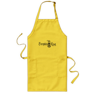 Pumpkin King B&W Long Apron