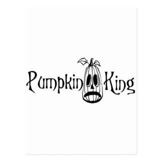 Pumpkin King B&W Postcard
