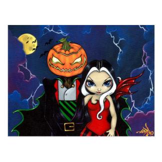 """Pumpkin King's Night Out"" Postcard"