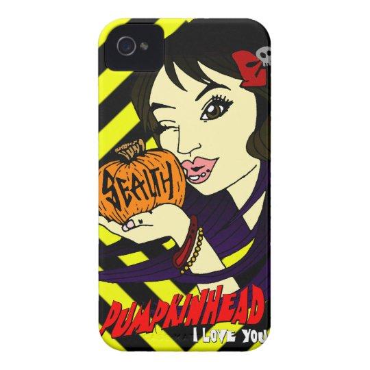 Pumpkin Kiss iPhone 4 CaseMate Case