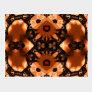 Pumpkin Lace Kaleidoscope Mandala Postcard