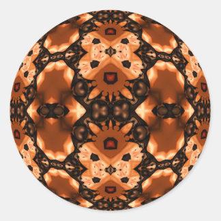 Pumpkin Lace Round Stickers