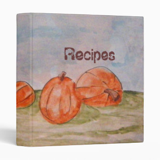 Pumpkin Landscape Painting Recipe Binder