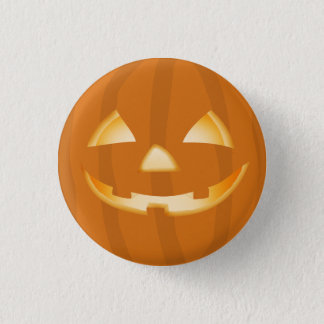 Pumpkin Lantern Halloween Fun Button Badge