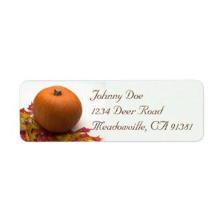 Pumpkin & Leaves Avery Label