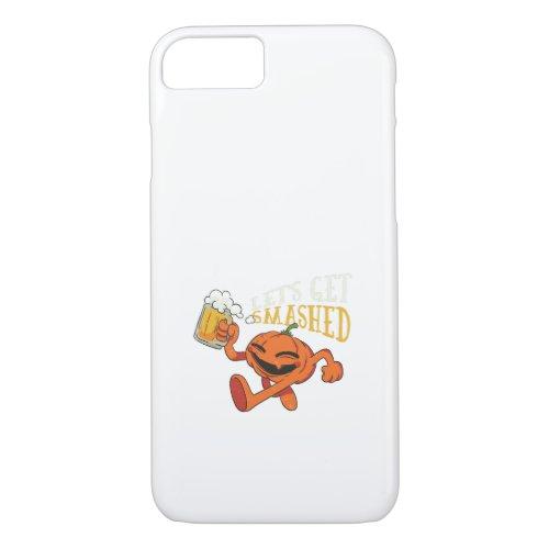 Pumpkin Let&#39&#x3B;s Get Smashed Beer Halloween iPhone 8/7 Case